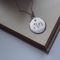 Crown Chakra Birthstone Necklace In Silver Or Gold, Silver