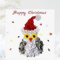 Owl Christmas Card Pack , Five Butterfly Cards