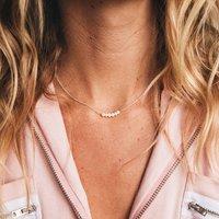 Asri Dainty Pearl Row Necklace