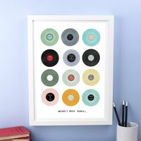 Personalised Vinyl Single Hits Print