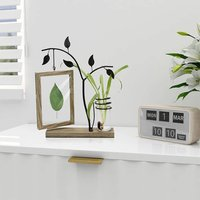 Double Sided Picture Frame With Vase And Metal Tree