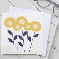 Dahlia Flower Blank Greetings Card