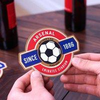 Personalised Football Team Beer Mat Coasters