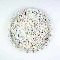 Multi Coloured Terrazzo Circular Tray
