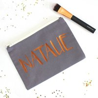 Personalised Name Make Up Bag