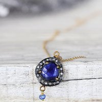 Sapphire And Diamond Pave Necklace