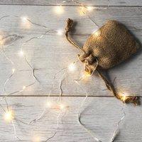 Micro Fairy LED Lights With Jute Bag