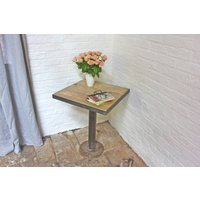 Artus Pedestal Reclaimed Wood Bistro Table