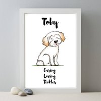 Cavachon Personalised Dog Name And Personality Print