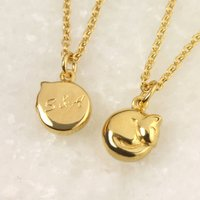 Personalised Tiny Cat Necklace