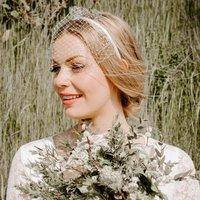 Ivory Headband Birdcage Wedding Veil For The Bride