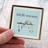 'You Are Fabulous' Silver Bird Earrings, Silver