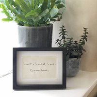 Mounted Personalised Embroidered Handwriting