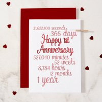 Personalised Time I've Loved You Anniversary Card, Purple/Royal Blue/Blue