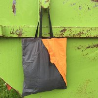 Upcycled Fold Up Tent Shopper