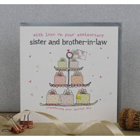 Sister And Brother In Law Wedding Anniversary Card