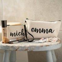 Personalised Linen Pencil Case/ Make Up Bag