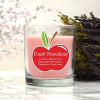 Personalised Scented Candle Thank You Teacher Gift
