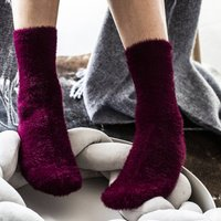 Fuzzy Knitted Cosy Bed Socks In A Gift Box