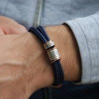 Medical Alert Bracelet With Sterling Silver Bands, Silver