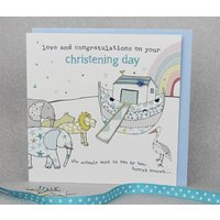 Christening Day Card For Boy Or Girl