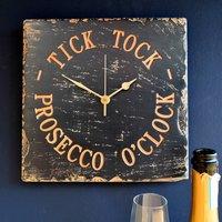 Prosecco O'clock Engraved Slate Clock