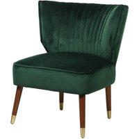 Basil Green Velvet Wing Back Chair