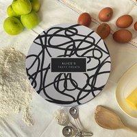 Personalised Scribble Circle Cake Tin