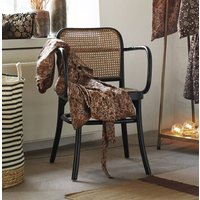 French Black And Rattan Bistro Chair