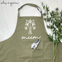 Personalised Apron For Mum Flowers Bouquet