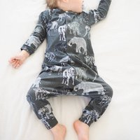 Organic Toddler And Baby Elephant Romper