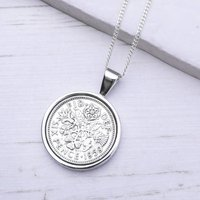 60th Birthday 1959 Sixpence Coin Necklace