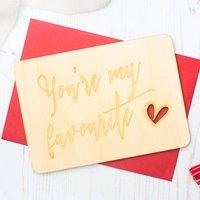 'You're My Favourite' Keepsake Postcard