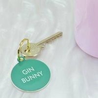 Gin Bunny Key Tag