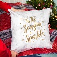 'Tis The Season To Sparkle' Christmas Cushion