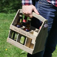 Personalised Six Compartment Beer Crate