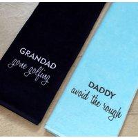 Slogan Golf Towel, Sky Blue/Blue/Black