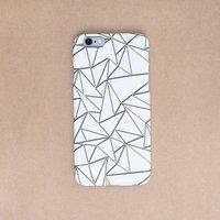 Golden Origami Phone Case, More Colours, White/Black/Peach