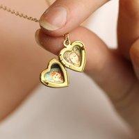 Tiny Small Heart Miniature Personalised Locket Necklace