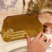 Personalised Quote Make Up Bag