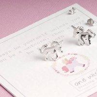 Unicorn Stud Earrings Silver, Gold, Rose Gold, Silver