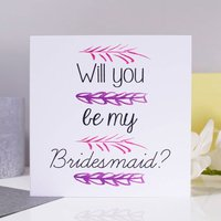 'Will You Be My Bridesmaid?' Card, Blue