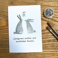 Glitter Mistletoe Christmas Card