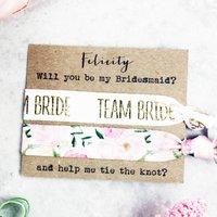 Will You Be My Bridesmaid Hair Tie Set, Ivory