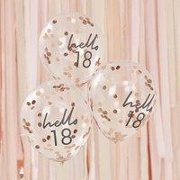 Hello 18 Birthday Balloons