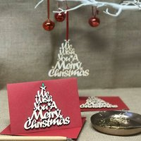 Christmas Decoration And Card, Red/Green/Gold