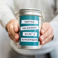 Superpower Coffee Gift In Tin, Red/Pale Blue/Blue