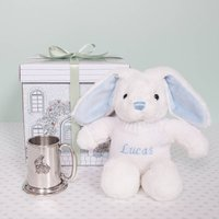 Little Blue Bunny Traditional Christening Tankard