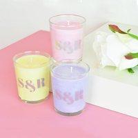 Personalised Monogram Pastel Wedding Favour Candle