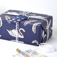 Swan Wrapping Paper Set